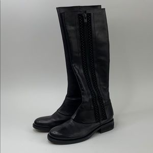 Vince Camuto black leather knee boots